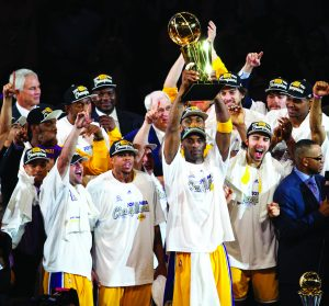 Lakers win NBA championship in 2010 with MVP Bryant.